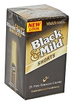 Black & Mild Shorts Regular Cigars 25CT Box