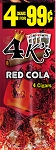 4K's Red Cola Cigarillos 15/4PK