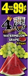 4K's Watermelon Grape Cigarillos 15/4PK