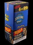 Zig Zag Rillo Wrap Blueberry 15/4PK