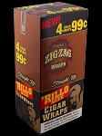 Zig Zag Rillo Wrap Straight Up 15/4PK