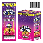 Hemp Zone Cigar Wrap Bee Berry 15/5PK