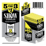 Show Cigarillos Foil Black Natural 15/5PK