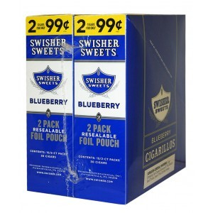 Swisher Sweets Cigarillos Foil Pack Blueberry Pre-Priced