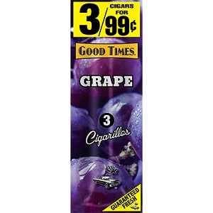 Good Times Cigarillos Grape Pouch 15/3PK