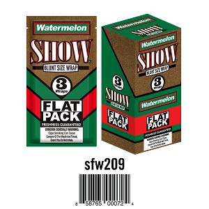 Show Cigar Wrap Watermelon 25/3PK