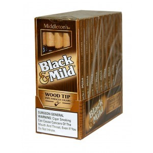 Black & Mild Wood Tip Cigars 10/5PK