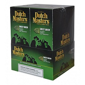 Dutch Masters Cigarillos Foil Sweet Green 20/3PK