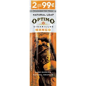 Optimo Cigarillos Foil Pack Mango Pre-Priced 30/2PK