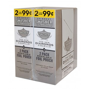 Swisher Sweets Cigarillos Foil Pack Diamonds Pre-Priced     (LIMIT OF TWO  )