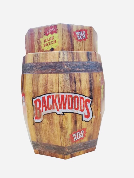 Backwoods Wild Rum Cigars 40Ct Barrel Display with Cigars