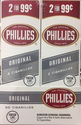 Phillies Cigarillos Foil Pouch Original 30/2PK
