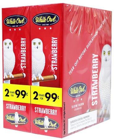 WHITE OWL CIGARRILLOS FOIL FRESH STRAWBERRY