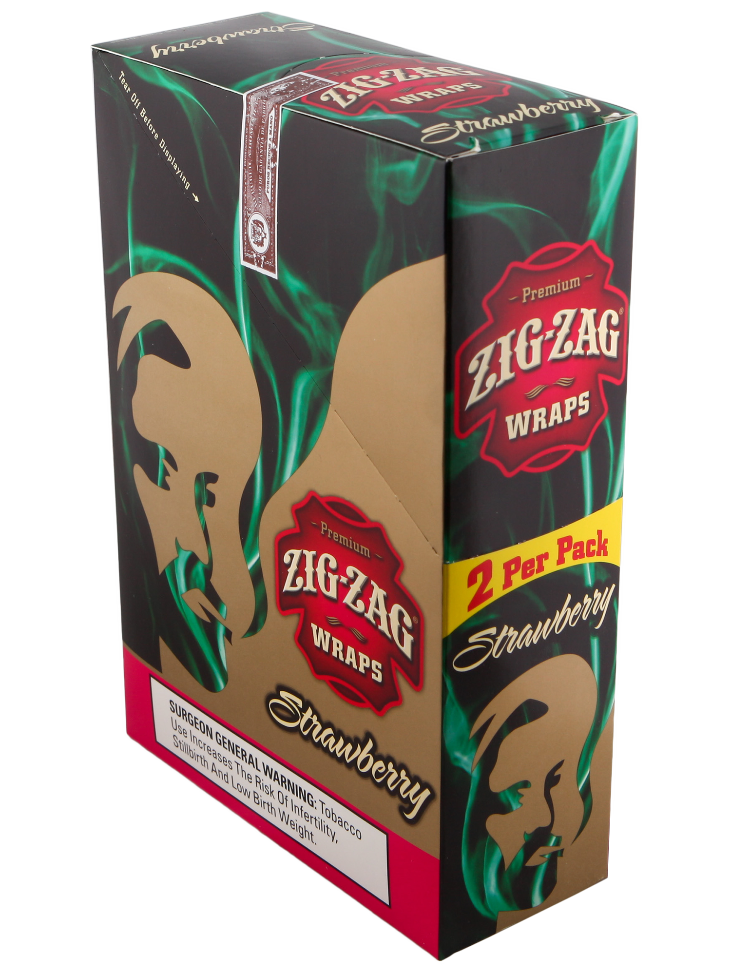 Zig Zag Cigar Wrap Strawberry 25/2PK
