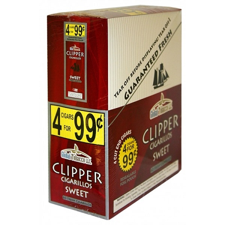 Clipper Cigarillos Sweet 15/4 Pouch Pre-Priced