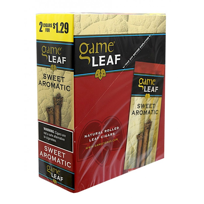 Game Leaf Cigars Sweet Aromatic 15/2PK (LIMITED QUANTITIES AVAILABLE, PLEASE CALL AHEAD BEFORE ORDERING)