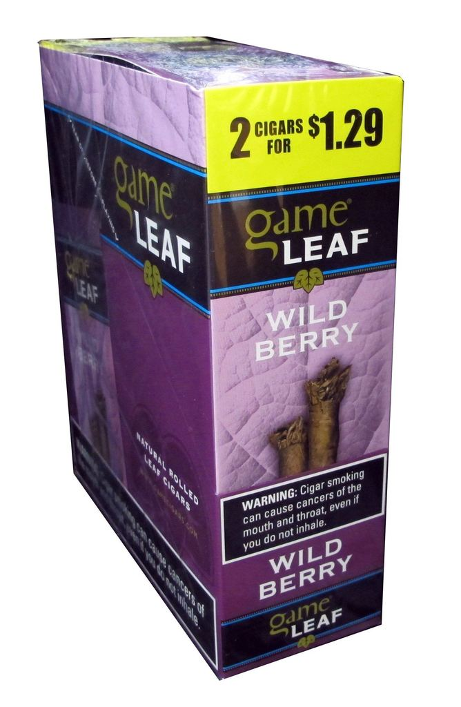 Game Leaf Cigars Wild Berry 15/2PK (LIMITED QUANTITIES AVAILABLE, PLEASE CALL AHEAD BEFORE ORDERING)