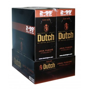 Dutch Masters Cigarillos Foil Java Fusion 2for99  LIMIT OF TWO