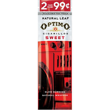 Optimo Cigarillos Foil Pack Sweet Pre-Priced 30/2PK
