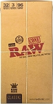 Raw Classic King Size Pre-Rolled Natural Unrefined Cone 96/Box