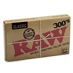 RAW Classic 300's Size 1 1/4   20 per Pack