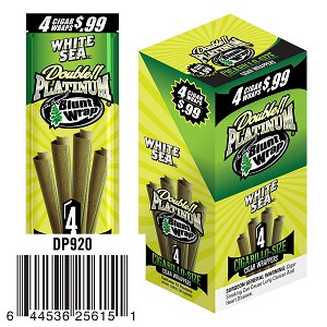 Double Platinum Cigarillo Wrap White Sea 15/4PK