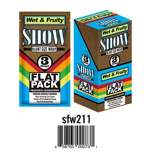 Show Cigar Wrap Wet & Fruity 25/3PK